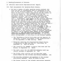 Agenda for BWMT/DC Steering Committee Meeting, 08/20/1985