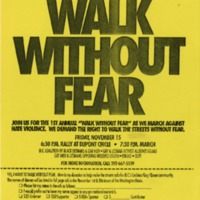 Walk Without Fear [1991 event flier]