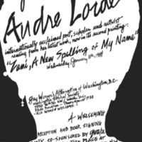 Audre Lorde 1984 Flier for GWA-DC