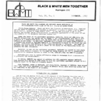 BWMT/DC Newsletter, Nov. 1983