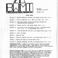 BWMT/DC Newsletter, Dec. 1981